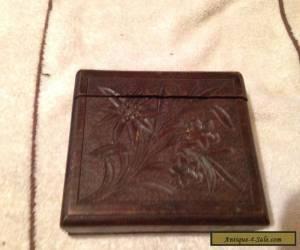 Vintage, Carved Wooden, Black Forest Wear Cigarette Box. for Sale