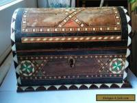 Vintage Hand Made Inlaid Wooden Box