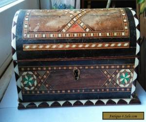 Vintage Hand Made Inlaid Wooden Box for Sale