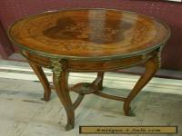 Antique French Inlaid Wood Table