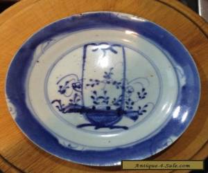 Antique Blue And White Chinese Plate Basket Decoration for Sale