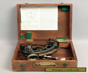 Estate Found 1942 WWII Cased US Navy-BU Ships Stadimeter Sextant Type for Sale