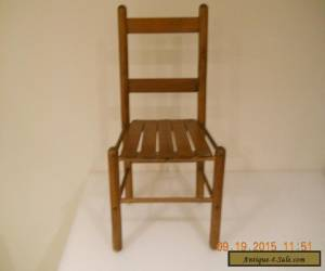 Antique Vintage  Wood Child Youth Slat Chair Mid Century  for Sale
