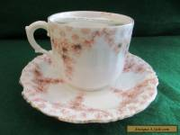 Antique Moustache Cup and saucer C-1880,S