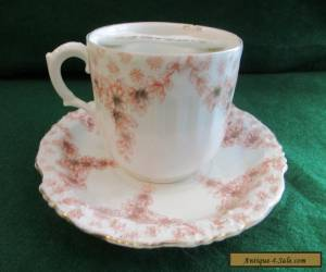 Antique Moustache Cup and saucer C-1880,S for Sale