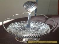 Vintage Mayell Silver Condiment Set - Glass Insert and Spoon