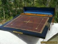 Antique Victorian RARE late 18th Century Flame Mahogany Quality Writing lap box.