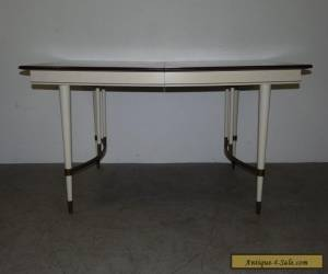 Vintage Mid Century Brass & Wood Dining Table Burt England Style 111208 for Sale