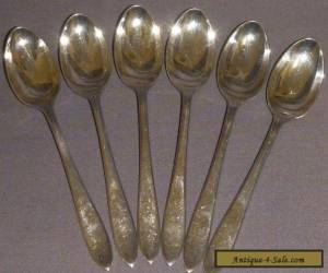 6 sterling silver teaspoons - 1931 for Sale