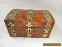 Antique Brass Bound Box   ae
