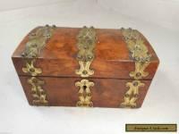 Antique Brass Bound Box   ae
