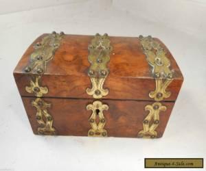 Antique Brass Bound Box   ae for Sale