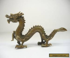 oriental Chinese hand work old copper carved dragon statue decoration for Sale