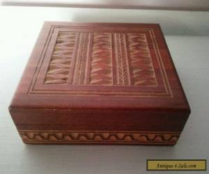 Hand carved wooden box for Sale
